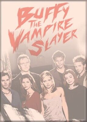 Buffy The Vampire Slayer Season 3 Cast On Peach Photo Refrigerator Magnet NEW