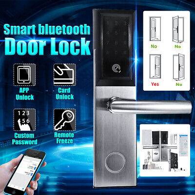 WiFi bluetooth Silver Cipher Remote Lock Cell Smart Door Phone Key Password Card