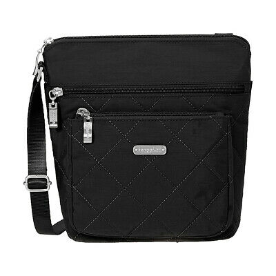 111043606 baggallini Quilted Pocket Crossbody with RFID 3 Colors Cross-Body Bag NEW