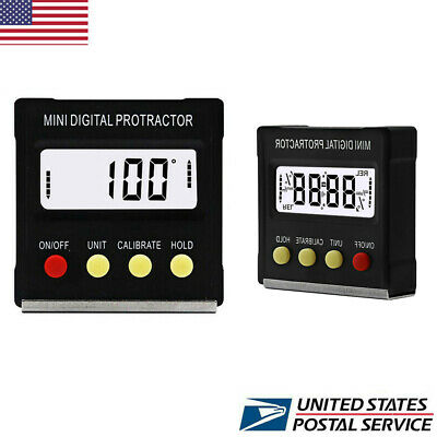 US Mini Digital Protractor Gauge Level Angle Finder Inclinometer Magnet Base