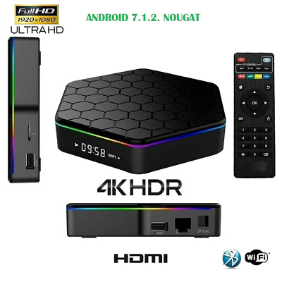 Smart Tv Box Meiq-It T96 Pro Android 4K Wifi Bluetooth Ram 4Gb Gpu 64Gb Sd Iptv