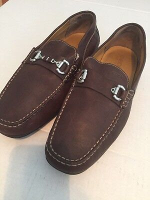 12fdf9ea6f0 GEOX Size 12 Respira Mens Loafers (46) Brown Leather Horse Bit Shoes EUC