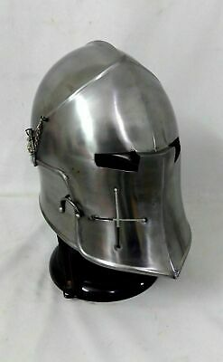 Medieval Barbuta Helmet Knight Templar Crusader Armour Helmet Halloween Best Gif