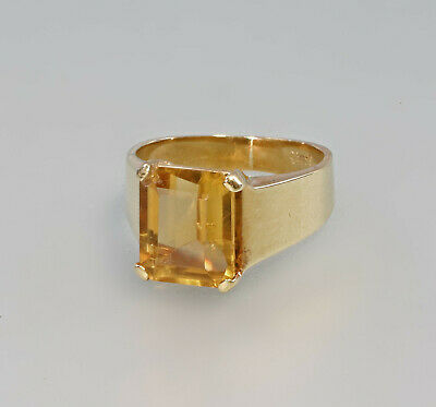 99825536 Üppiger Citrin-Ring 750er Gold 7,87g Gr.56