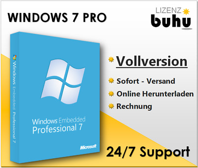 MS Windows 7 Professional, Win 7 Pro, 32&64 Bits, Produktkey per E-Mail