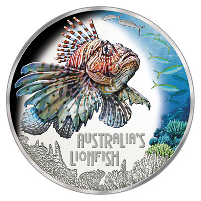 Tuvalu - 1 Dollar 2019 - Rotfeuerfisch - Deadly & Dangerous (14.) - Silber PP
