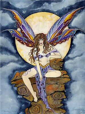 Guardian Of The Night 11 by 17 watercolor print by Suzanne Melody