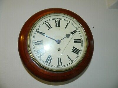 8 inch FUSEE CLOCK CASE WITH NON FUSEE MOVEMENT WORKING BEZEL NEEDS REPAIR