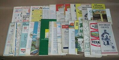 25+ VINTAGE Road Maps, New England, NY, Miami Beach, Washington DC, 1950's-70's