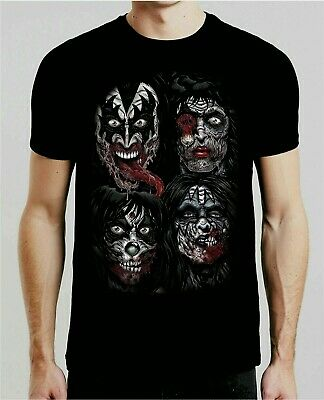 KISS Band T-Shirt End of the Road Farewell Tour 2019 Gift for Men/Women Horror