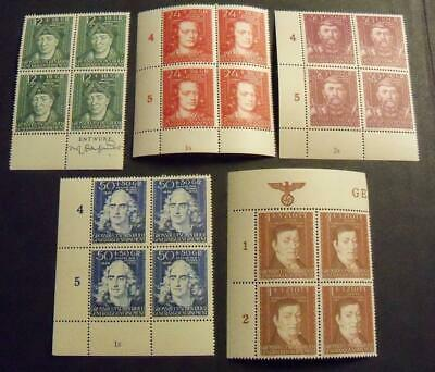 German Third Reich Occupied General Government 1944 Culture funds stamps -MNH-