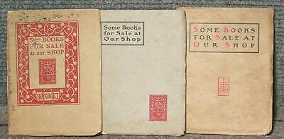 Catalogs From The Roycroft Shop In East Aurora N Y 1899-1902 Elbert Hubbard
