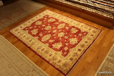 Fine Quality Handmade Persian Wool rug, Hand -knotted Orange Red beige Gold