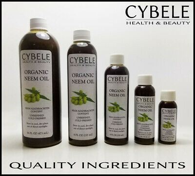 Organic Neem Oil Cold Pressed Unrefined Azadirachtin Natural Spray All Sizes