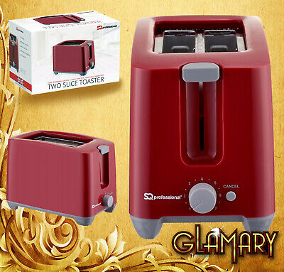 SQ Professional Dimensions 2 Slice Toaster New Essential  - RED