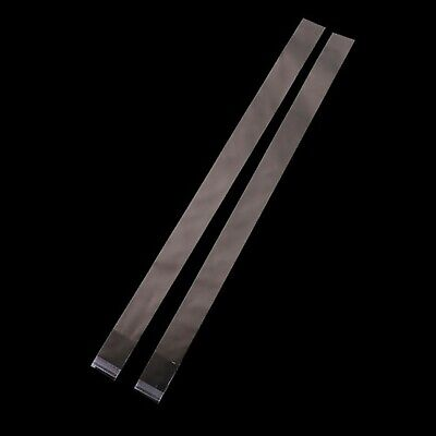 Clear Cello Cellophane Reseal Skinny Treat Tubes Bags - 40x2.4cm x 100