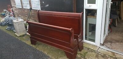 Mahogany Double Sleigh Bed Del Avail