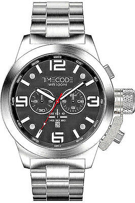 Clearance Sale Timecode Chronograph Tc-1007-01 Sapphire Crystal S.steel Bnwt Box