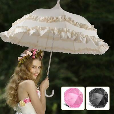 Double Lace Parasol Princess Umbrella Bridal Wedding Props Party Decoration