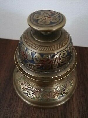 Vintage INDIAN Handcrafted Brass Animal Bell with Claw Elephant Design