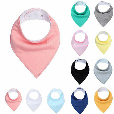 Infant Baby Kids Cotton Feeding Saliva Towel Dribble Triangle Bandana Bib Fill