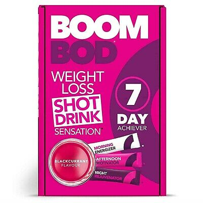 Boombod 7 Day Achiever 21 Sachets Blackcurrant Flavour PACK OF 2