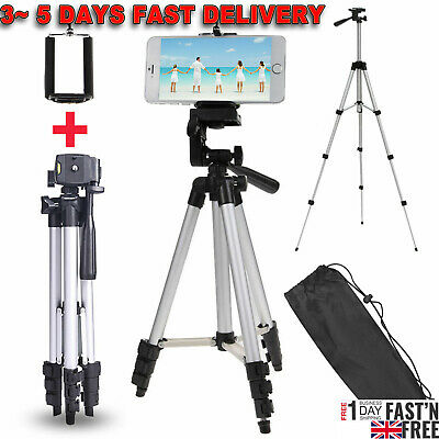 Camera Camcorder Adjustable Tripod Stand Mount Holder for Canon Sony Fuji Phones