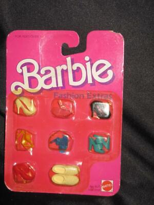"""1984 Barbie Fashion Extras 8 Pairs of Shoes Fits most 11.5"""" dolls NRFB #9121"""