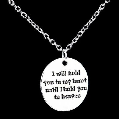 New Love I Will Hold You In My Heart Silver Chain Pendant Necklace Jewelry Gifts