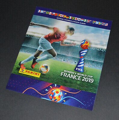 Panini WOMENS WORLD CUP France 2019 (UK Edition) Sticker Album + 6 Stickers *NEW