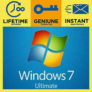Instant MS Windows 7 Ultimate License Key Retail Code -LifeTime-Fast Delivery!