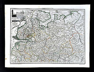 1812 Malte Brun Lapie Map - North Russia - St. Petersburg Moscow Moskow Finland
