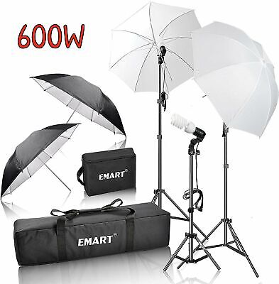 Complete Professional Umbrella Continuous Lighting Kit Video Portrait Studio Set