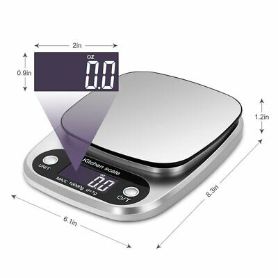 10kg Digital Kitchen Scale Multifunction Stainless Steel Electronic Food Scale