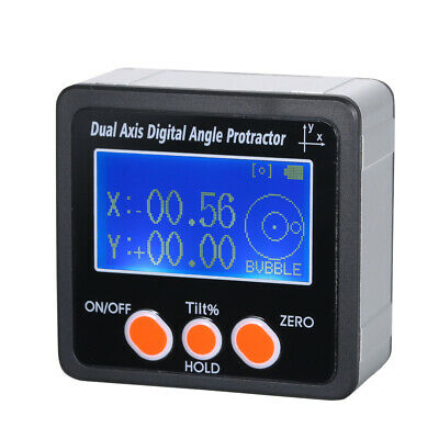 Dual Axis 4*90° Digital Angle Protractor Inclinometer with LCD Backlight I7O2