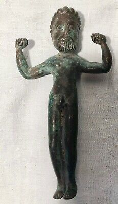 Bronze Man Artifact Holy Land Levant Assyrian Mesopotamian Old Persian Influence