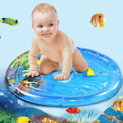 Water Play Mat for Infants Inflatable Toddlers Fun Tummy Time Play Oval + Pump
