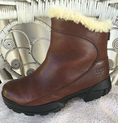 5c93357d864 UGG AUSTRALIA BROWN Leather Channing Riding Boots Size 7 - $32.00 ...