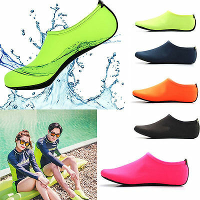 Women Men Skin Water Shoes Aqua Beach Socks Yoga Exercise Pool Swim Slip On Surf