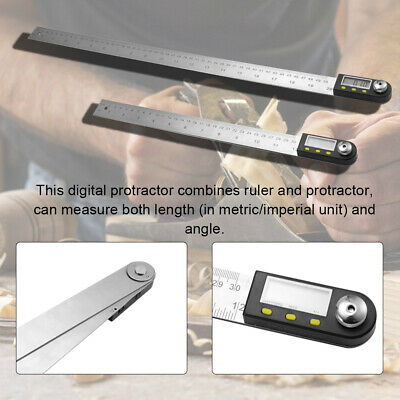 Stainless Steel Electronic Digital Display Protractor Angle Finder Ruler P3I1