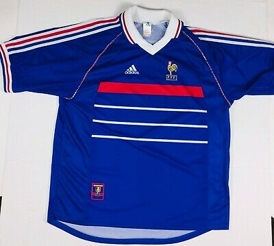 e721147912d Vintage Adidas Official 1998 France World Cup National Home Team Soccer  Jersey