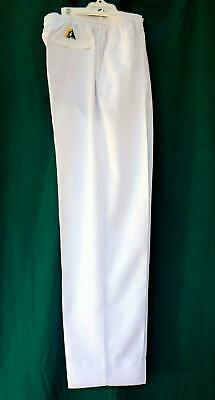 Lawn Bowls Clearance: NEW DOMINO  Mens Large White Long Pants POST INCLUDED