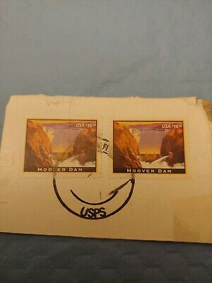 U.S. Stamp Scott # 4269 $16.50 Hoover Dam Double Stamps Used