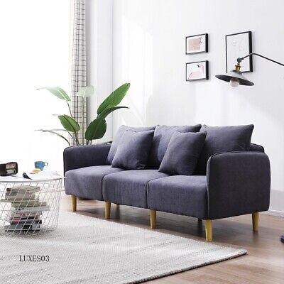 Admirable 3 Seater Sofas Modern Fabric Sofa With Armrest Couch Settee Uwap Interior Chair Design Uwaporg