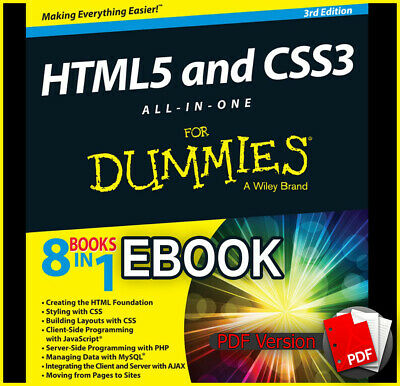 HTML5 and CSS3 All-in-One for Dummies 8in1 by Andy Harris (ebook_pdf)