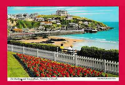 Unposted card. The Harbour and Towan Head, Newquay, Cornwall