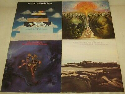 Job Lot 4 Moody Blues LPs - Seventh Sojourn On The Treshold of a Dream This Is