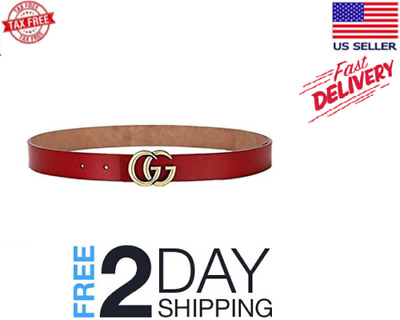 21d0717d4 Women G-Style Gold Buckle Leather Slim Belts Gucci Logo Pattern For Jeans