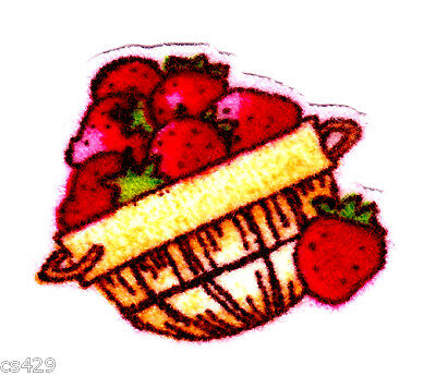 style #5 Strawberry Shortcake Fabric Iron On Appliques