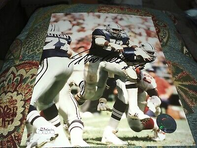Ed Too Tall Jones Dallas Cowboys Signed Photo JSA Certified Sticker